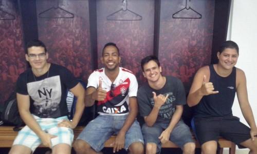 Flávio Sande, Tiago Di Araújo e Ítalo Oliveira.