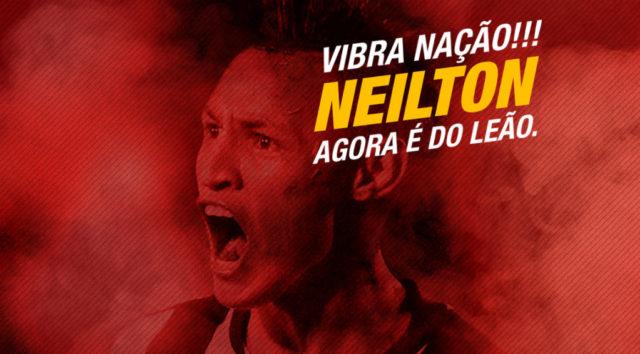 Vitória oficializa contratação do atacante Neilton, ex-Cruzeiro
